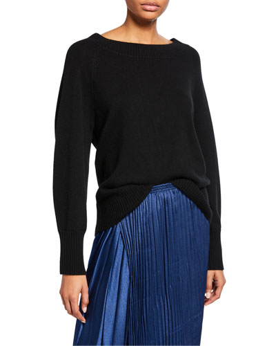 Full-Sleeve Wool-Cashmere Sweater
