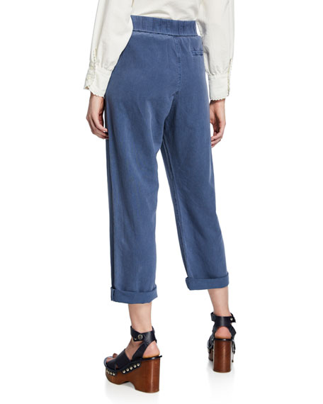 The Great The Sea High-Rise Straight-Leg Trousers