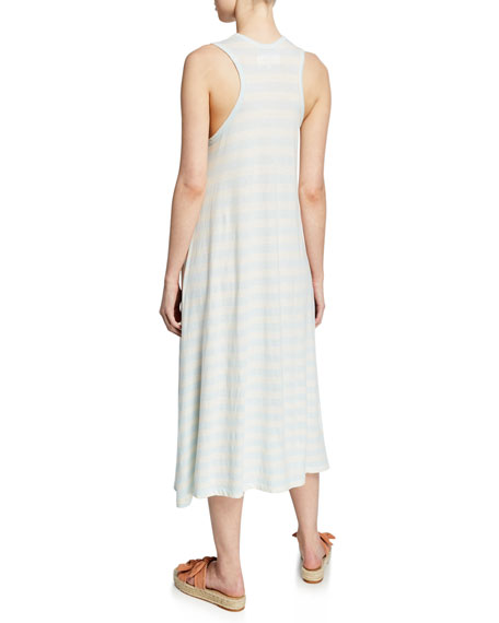 The Great The Swing Tank Striped Midi Dress