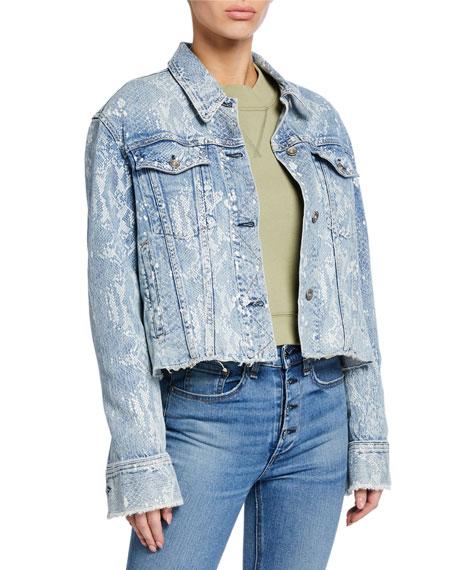 Rag & Bone Cropped Oversized Denim Jacket