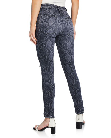 Image 2 of 3: Rag & Bone Cate Mid-Rise Ankle Skinny Snake-Print Jeans