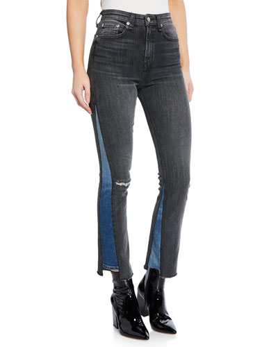 Nina High-Rise Ankle Cigarette Repair Jeans