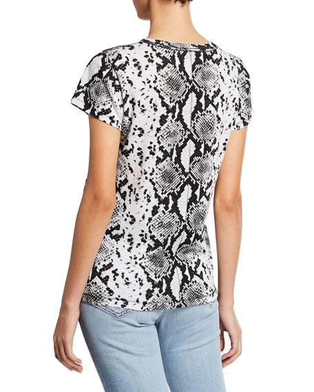 Rag & Bone Snake-Print Short-Sleeve Cotton Tee