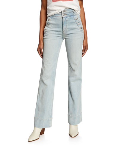 The Maritime High-Rise Flared Jeans