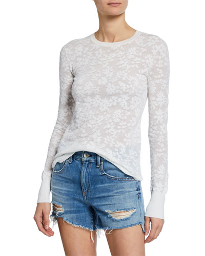 Perry Crewneck Cotton Pullover Sweater