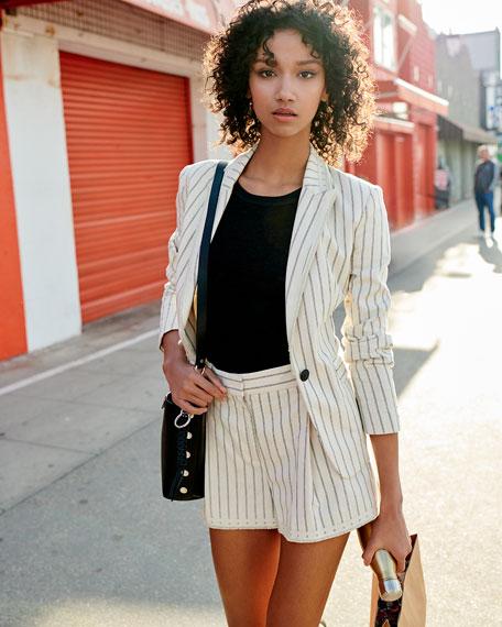 Rag & Bone Millie Striped Cotton Shorts