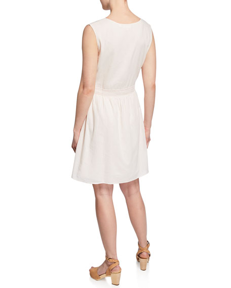 LAIA LABEL Gabriela Embroidered Sleeveless Dress