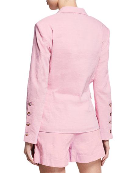 PINKO Delizia Asymmetric Linen Blazer