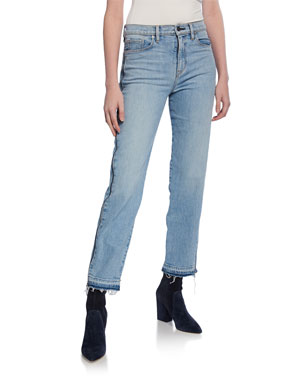 2a0c224292da0 Hudson Holly High-Rise Crop Straight-Leg Jeans