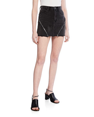 4a9f946be Hudson The Viper Mini Skirt w/ Zipper Details