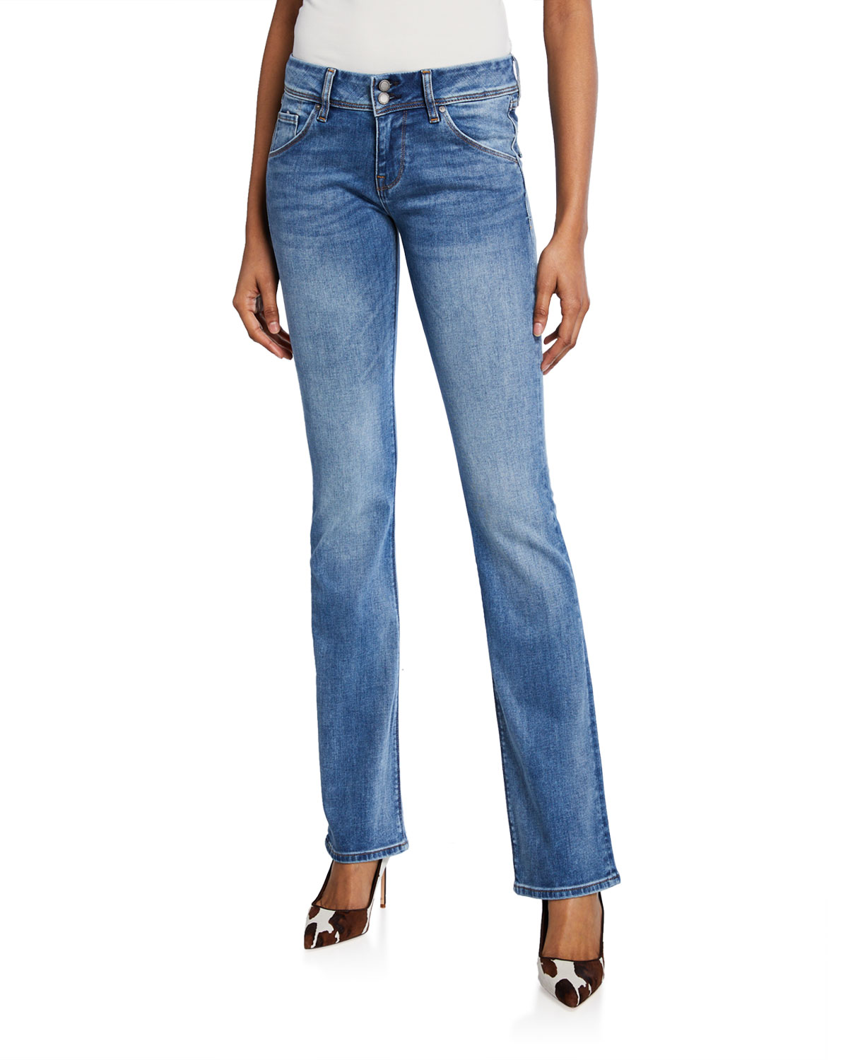 Hudson Beth Mid Rise Baby Boot Cut Jeans Neiman Marcus