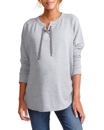 Maternity Lace-Up Cocoon Top