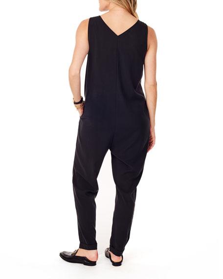 Ingrid & Isabel Maternity Zip-Front Sleeveless Jumpsuit