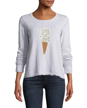 Lisa Todd Lickety Split Ice Scream Intarsia Sweater 2a4559896