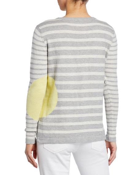 Lisa Todd Petite Striped Dot Long-Sleeve Cotton Sweater
