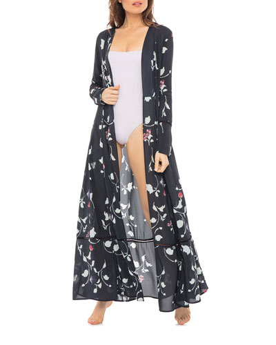 Audrey Printed Coverup Maxi Duster