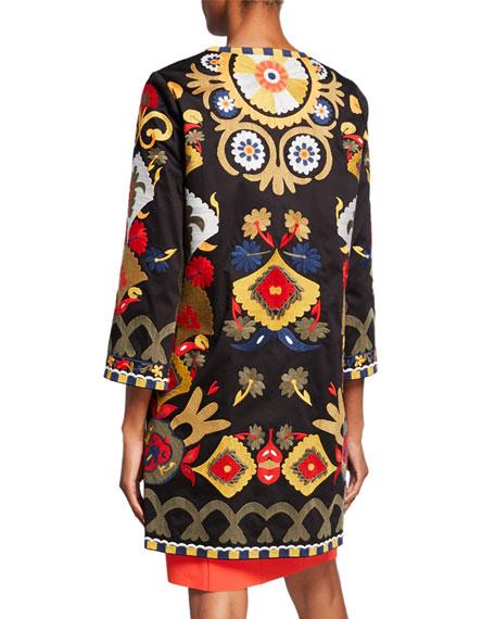 Kobi Halperin Amber Embroidered 3/4-Sleeve Coat