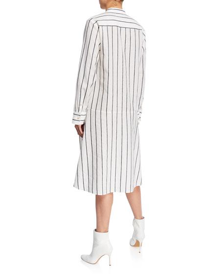 palmer//harding Alexandria Striped Long-Sleeve Shirtdress