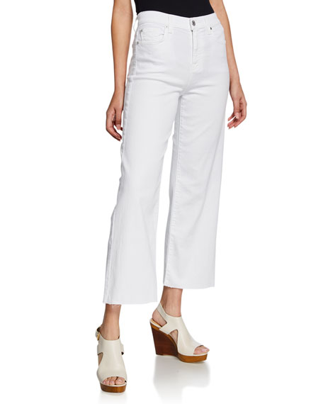 7 For All Mankind Jeans ALEXA CROPPED WIDE-LEG HIGH-RISE JEANS