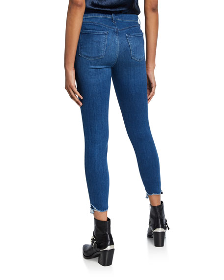 J Brand 835 Mid-Rise Crop Skinny with Double Hem