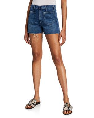 64d96cab10cd Women's Designer Shorts: Denim & Linen at Neiman Marcus
