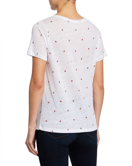 Rails Cara Strawberry-Print Tee