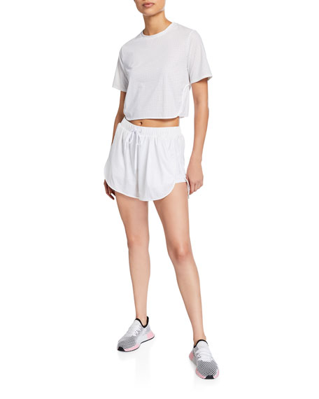 The Upside Perforated Drawstring Track Shorts