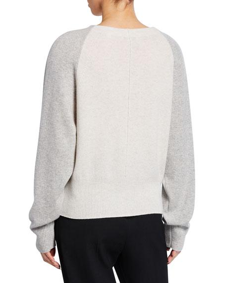 Vince Colorblack Raglan Sleeve Crewneck Cashmere Sweater