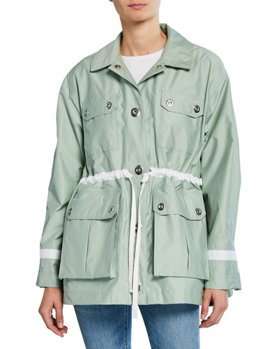 Refined Waterproof Garden Jacket w/ Four Pockets