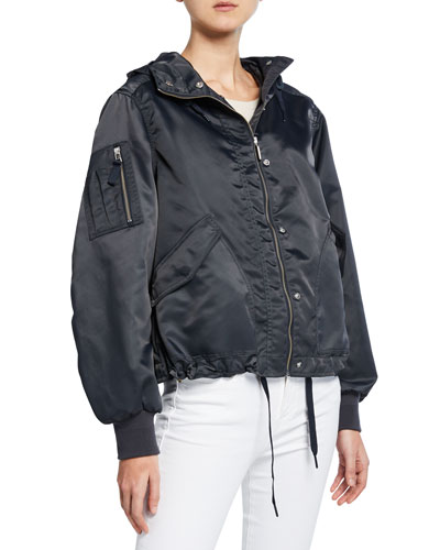 Refined Waterproof Bomber Jacket