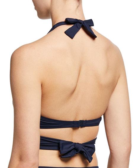 Carmen Marc Valvo Strappy Halter Bikini Top