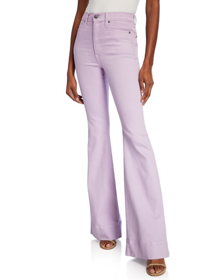 ALICE + OLIVIA JEANS Beautiful High-Rise Bell Jeans