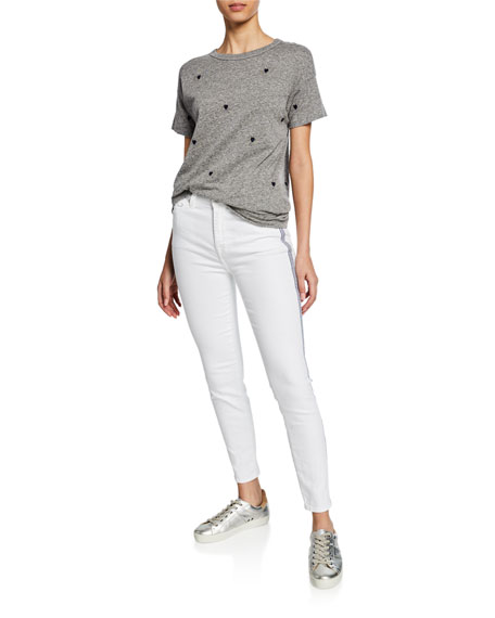 7 For All Mankind Side-Stripe High-Rise Ankle Skinny Jeans