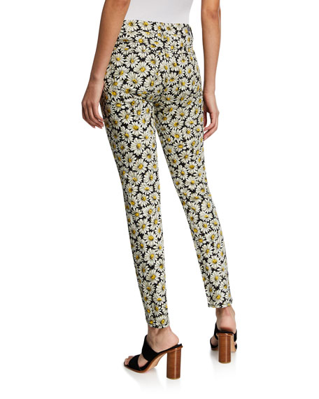 7 For All Mankind Daisy-Print Ankle Skinny Jeans