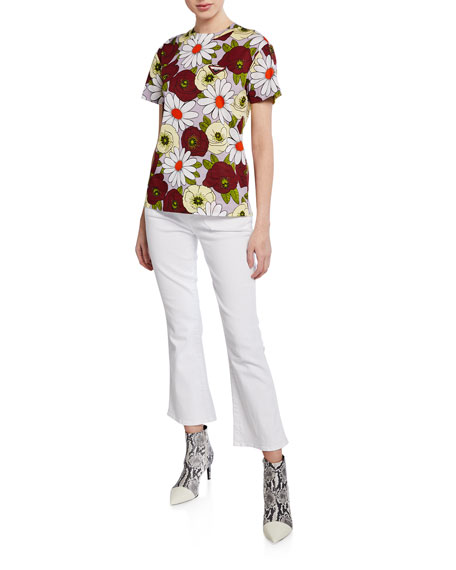 7 For All Mankind High-Waist Slim Kick Crop Jeans