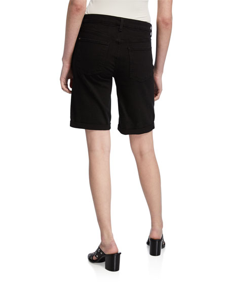 Jen7 by 7 for All Mankind Bermuda Shorts with Rolled Cuffs