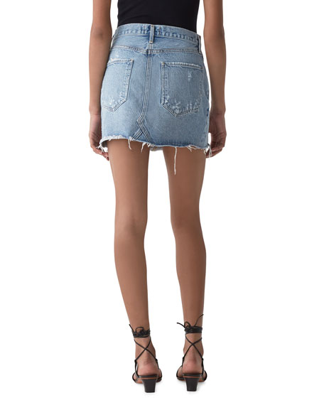 AGOLDE Quinn High-Rise Denim Mini Skirt