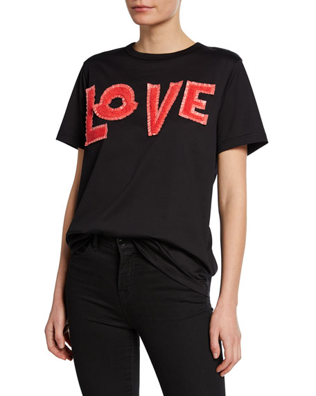 Moncler Moncler Genius Embroidered LOVE T-Shirt
