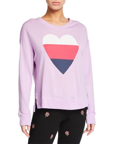 Image 1 of 2: High-Low Graphic Crewneck Top