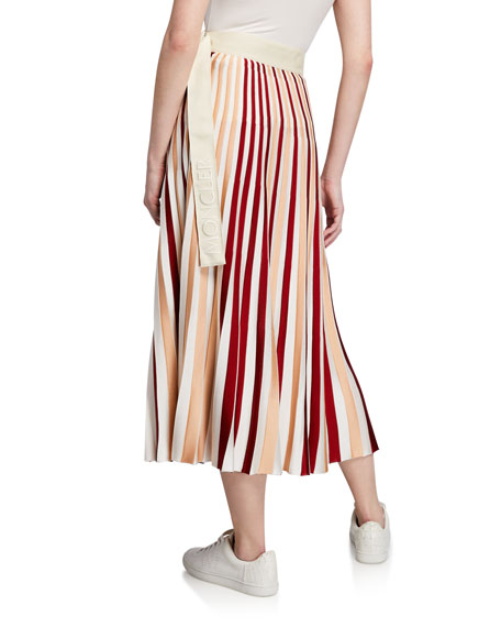 Moncler Moncler Genius Striped Midi Skirt w/ Belt