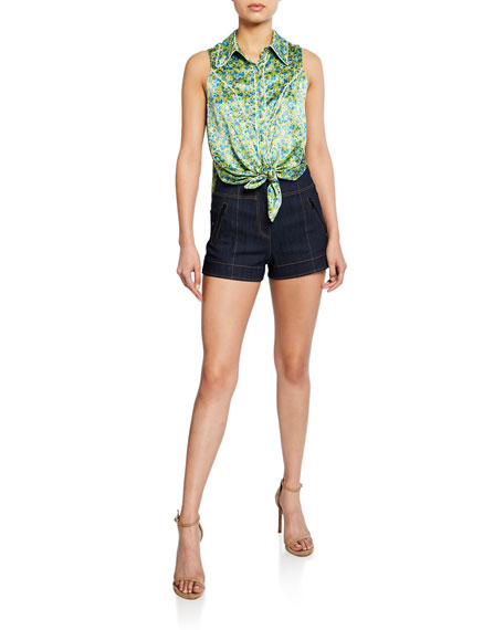 cinq a sept Marla High-Rise Denim Shorts