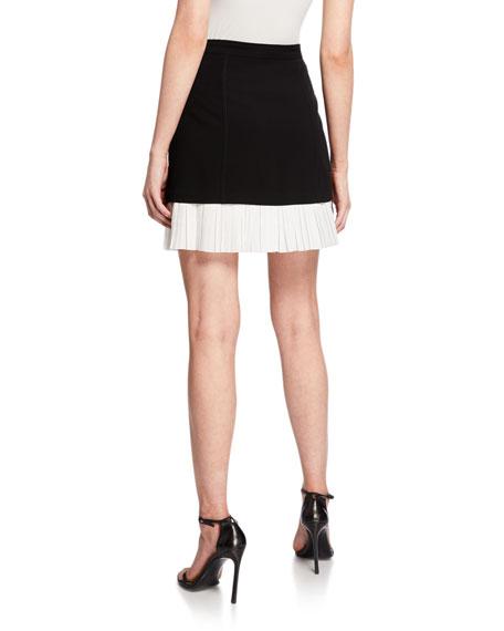 cinq a sept Catriona Pleated Hem Skirt
