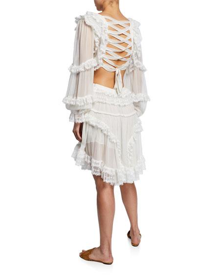 Zimmermann Suraya Cutout Ruffle Mini Dress