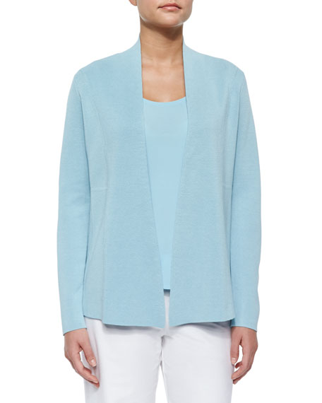 Eileen Fisher Petite Silk-Blend Interlock Open-Front Jacket