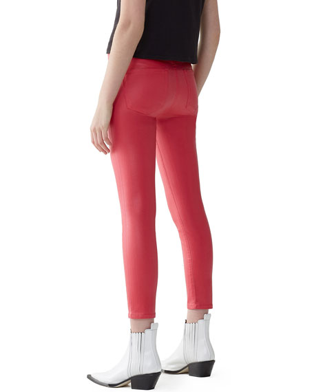 Image 2 of 3: AGOLDE Sophie High-Rise Skinny Cropped Leatherette Jeans