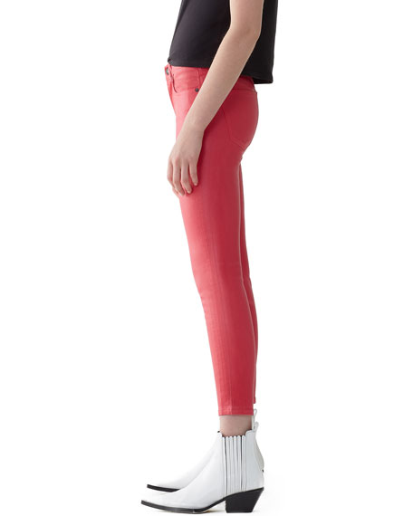 Image 3 of 3: AGOLDE Sophie High-Rise Skinny Cropped Leatherette Jeans
