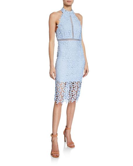Bardot Gemma Lace Halter Dress