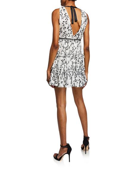 Bardot Jade Embroidered Lace Mini Dress