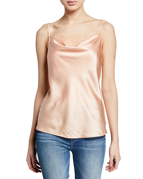 PAIGE Giovanna Cowl-Neck Camisole with Lace