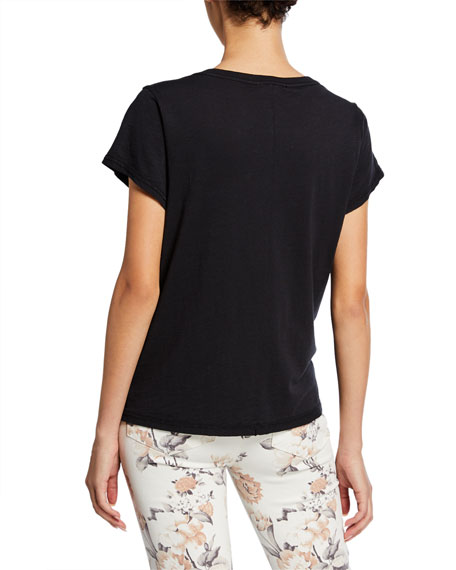 PAIGE Ellison Short-Sleeve Tee with Western Embroidery